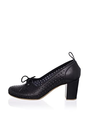 Swedish Hasbeens Women's Margot Laced Pump (Black/black)