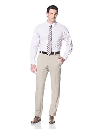 Incotex Ivory Men's Twill Hi-Twist Trouser (Khaki)