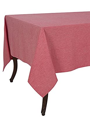 KAF Home Chambray Tablecloth, Red, 70
