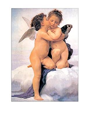 ArtopWeb Panel de Madera Bouguereau the First Kiss