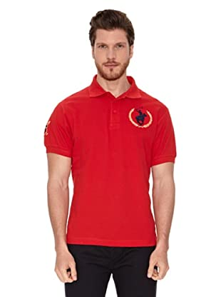 Polo Club Polo Manga Corta Big Logo Big Horse Espalda (Rojo)