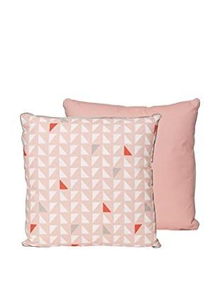 Present time Cojín Triángulos Con Relleno Diseño Studio Stijll Rosa