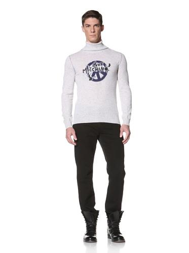 LOVE Moschino Men's Turtle Neck Sweater (Grey/Bluette)
