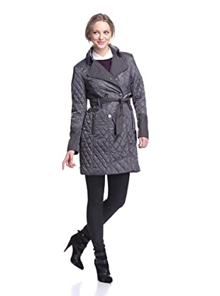 Vince Camuto Women's Transitional Quilted Coat (Granite)