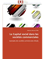 Le Capital Social Dans Les Societes Commerciales