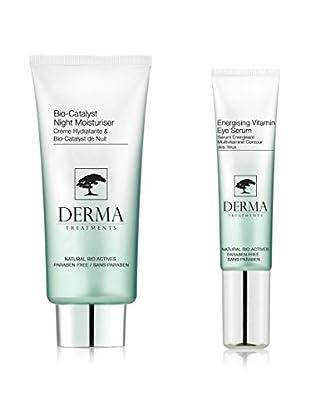 DERMA TREATMENTS Kit de Tratamiento Facial y El Contorno De Ojos Bio Energising