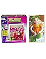 New Baby Doll House + Cute Candy Doll Soft Toy