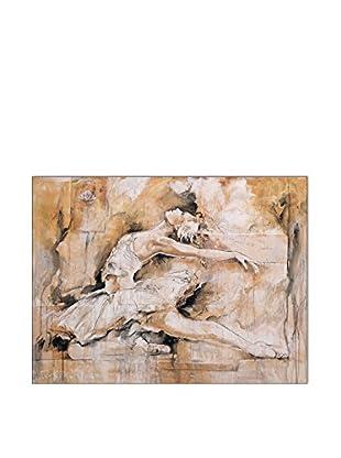 ArtopWeb Panel de Madera Gottfried Swan Lake 60x80 cm