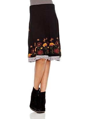 Desigual Falda Begoña (Negro Estampado)