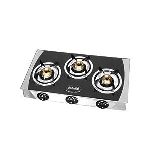 Padmini CS-3GT Prima Glass Cooktop - Crystal Black