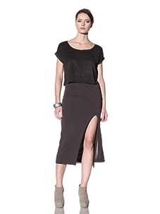 Rick Owens Lilies Women's Skirt (Charcoal)