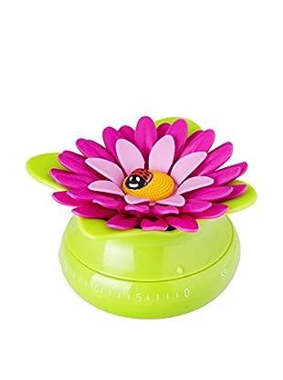 VIGAR Temporizador Cocina Flower Power Verde / Magenta