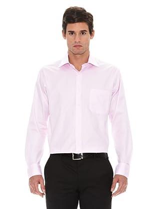 Turrau Camisa Vestir Microdibujo (Rosa)