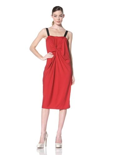 Zero + Maria Cornejo Women's Ado Twisted Front Dress (Cranberry)