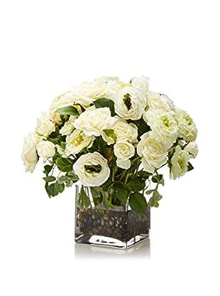 Lux-Art Silks Rose Ranunculus Waterlike (White)