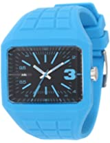 edc by esprit Men's EE100571005 Rubber Rebel Cool Turquoise Watch