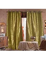 Premium Gold touch Curtain-green(4x7ft)