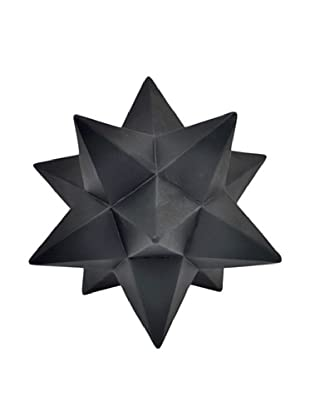 Three Hands Black Resin Starburst Décor