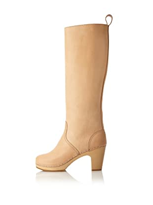 Swedish Hasbeens Women's Knee-High Jodhpur (Nature)