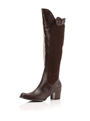 Adrienne Vittadini Women's Hamlet Riding Boot (Brown)