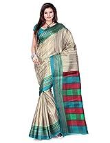 Cenizas Cotton Silk Saree (3302Grn _Multi-Coloured)