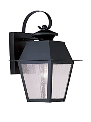 Crestwood Mason 1-Light Wall Lantern, Black