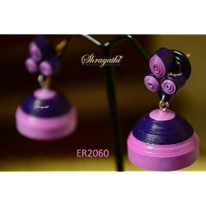 Purple Paper Jhumka-Jewellery-shrayathi