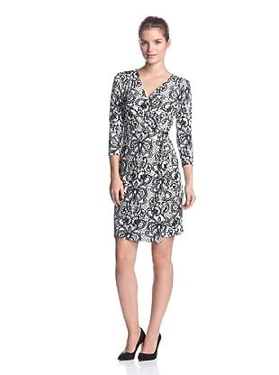 Calvin Klein Women's Printed Wrap Dress (Birch)
