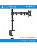 "Tanotis Imported 6 Way Swivel Tilt Desktop Monitor mount for Computer LED LCD Montiors upto 13"" to 27"" inch VESA upto 100 MM TAN DMT 27A"