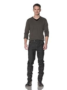 Cotte D'Armes Men's Straight Leg Selvedge Raw Black (Raw Black)