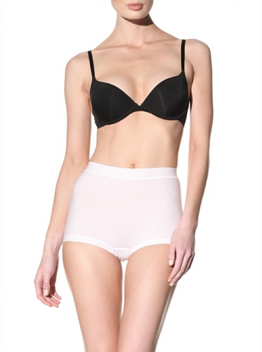 Nearly Nude Women's Smoothing Cotton Boy Short (White)