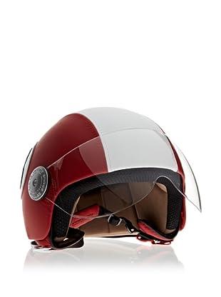 Andrea Cardone Casco da motociclista (Rojo)