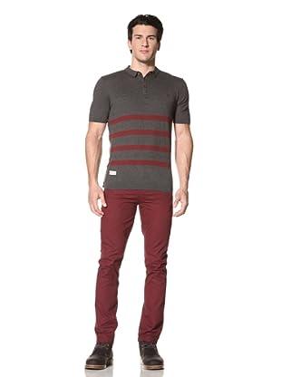 Marshall Artist Men's Short Sleeve Golf Polo Shirt (Charcoal)