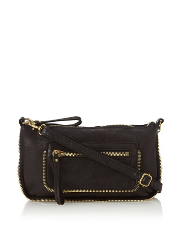 Linea Pelle Women's Dylan Amazing Zip Top Cross-Body (Black)
