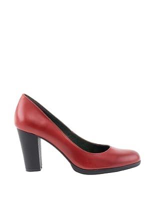 Liberitae Zapatos tacón Patín (Rojo guinda)