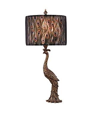 Dimond Lighting D2480 Peacock Ceramic Table Lamp, Gatton Gold