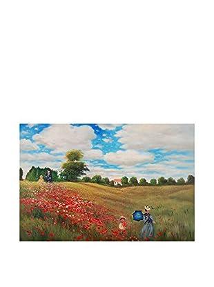 Arte Dal Mondo Pintura al Óleo sobre Lienzo Monet Passeggiata Tra I Papaveri