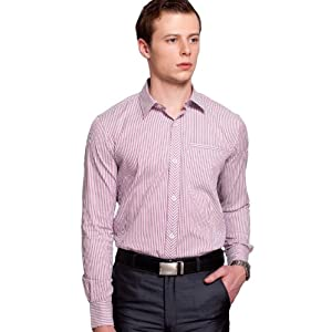 Colormode Pink Full Sleeves Cotton Men - Formal Shirts