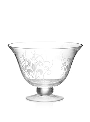 Home Essentials Etched Fleur-de-Lis Centerpiece Bowl