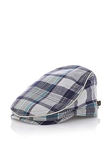 Ben Sherman Men's Madras Driver Hat (Grey)