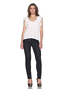 RED Valentino Women's Flutter Sleeve Knit Top (White)