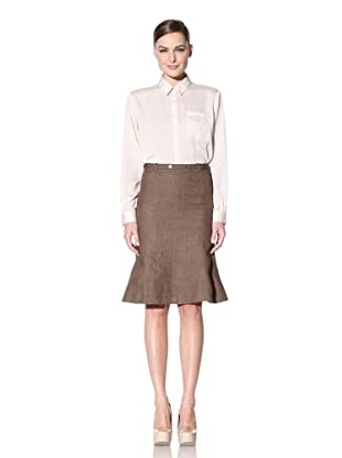 Loro Piana Women's Mei Pearl Linen Skirt (Earth)