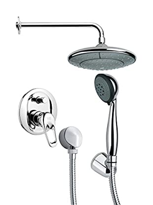 Remer By Nameek's 4-Piece Orsino Convex Wall-Mounted Shower Set, Chrome