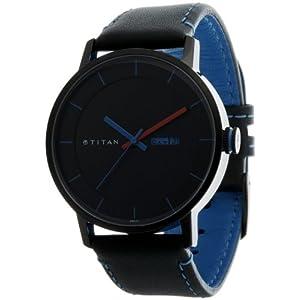 Titan Purple Analog Black Dial Men's Watch - 9399NL03J