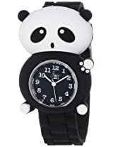 "Frenzy Kids' FR2001 ""Panda Critter Face"" Black Band Children's Watch"