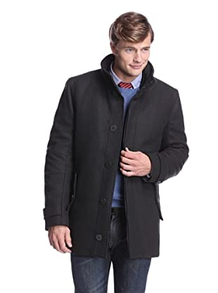 Andrew Marc Men's Jeepster Coat with Removable Vest (Slate)