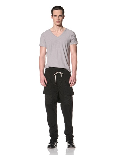 Rick Owens DRKSHDW Men's Cargo Sweat Pant (Black)