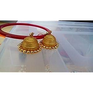 Traditional Gold Jhumkas