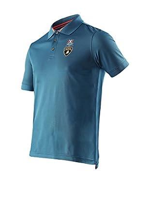 X-BIONIC for AUTOMOBILI LAMBORGHINI Poloshirt Stripes Flag Ow
