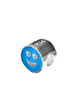 Angel Devil Abalorio De Plata De Ley 925 Smile Azul